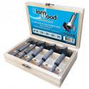 Coffret 5 mèches à façonner HSS D. 15, 20, 25, 30, 35 x Lu. 57 mm x Q. cylindrique - Diamwood