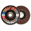 Lot de 5 disques lamelles bombés corindon D. 115 x Al. 22,23 x Gr. 80 - Métal, bois - Diamwood