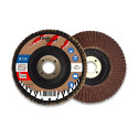 Lot de 5 disques lamelles bombés corindon D. 115 x Al. 22,23 x Gr. 120 - Métal, bois - Diamwood
