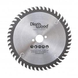 Lame de scie circulaire HM universelle D. 250 x Al. 30 x ép. 3,2/2,2 mm x Z48 Alt pour bois - DWORX