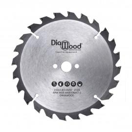 Lame de scie circulaire portative HM débit D. 210 x Al. 30 x ép. 2,8/1,8 mm x Z24 Alt pour bois - DWORX