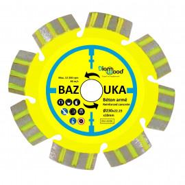 Disque diamant BAZOUKA D. 125 x Al. 22,23 x Ht. 10 mm - béton armé, béton, matériaux de construction - Diamwood