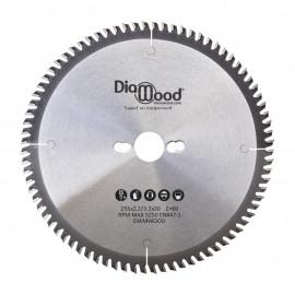 Lame de scie circulaire HM universelle D. 255 x Al. 30 x ép. 3,2/2,2 mm x Z60 Alt pour bois - DWORX
