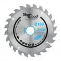 Lame de scie circulaire portative HM débit D. 160 x Al. 30 x ép. 2,2/1,4 mm x Z18 Alt pour bois - Diamwood