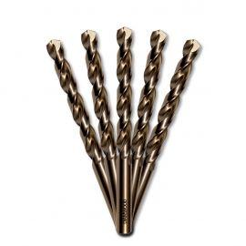 5 forets métaux HSS Cobalt 5% D. 12,5 mm x Lu. 101 x Lt. 151 mm 135° taillé, meulé pour acier / Inox - Diamwood