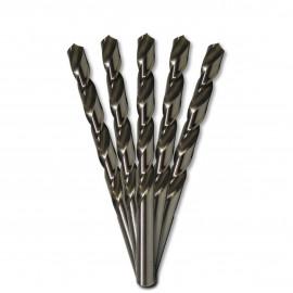 5 forets métaux HSS M2 Pro D. 10,5 mm x Lu. 87 x Lt. 133 mm 135° taillé, meulé pour aciers - Diamwood
