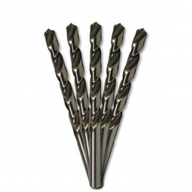 5 forets métaux HSS M2 Pro D. 17 mm x Lu. 75 x Lt. 150 mm 118° x Q. 12,7 mm taillé, meulé pour aciers - Diamwood