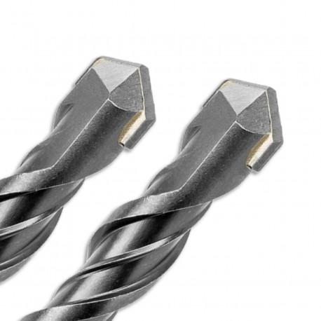 2 forets béton Pro SDS+ D. 12 mm x Lu. 200 x Lt. 260 mm 2 taillants pour béton - Diamwood