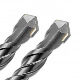2 forets béton Pro SDS+ D. 8 mm x Lu. 100 x Lt. 160 mm 2 taillants pour béton - Diamwood